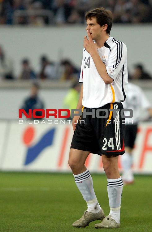 Freundschaftsspiel Vorbereitung EM 2007 <br /> <br /> Deutschland (GER) - Daenemark (DEN) 0 - 1<br /> <br /> Manuel Friedrich (GER)<br /> <br /> Foto &copy; nph (  nordphoto  )  *** Local Caption ***