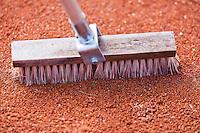 August 24, 2014, Netherlands, Amstelveen, De Kegel, National Veterans Championships, Line brush<br /> Photo: Tennisimages/Henk Koster