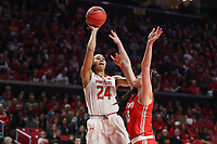 College Park, MD - March 23, 2019: Maryland Terrapins forward Stephanie Jones (24) attempts a shot during game between Radford and Maryland at  Xfinity Center in College Park, MD.  (Photo by Elliott Brown/Media Images International)