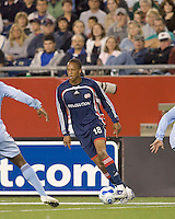 New England Revolution forward Khano Smith (18) controls the ball on the wing. The New England Revolution defeated the Colorado Rapids, 1-0, at Gillette Stadium in Foxboro, MA on September 29, 2007.
