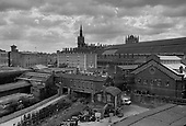 St Pancras Station, the German Gymnasium and buildings behind King's Cross station, London 1990