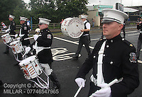 Pollok Young Loyalist Flute Band leading Govan District returning from the County Grand Orange Lodge of Glasgow Parade 2012 which took place in Glasgow on 7.7.12..