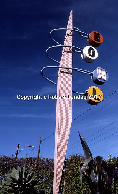 BOWL sign on PCH near Long Beach,CA circa 1989