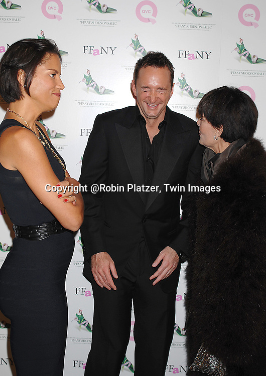 """Veronica Webb. Clinton Kelly, from What Not to Wear and ..Linda Dano..at The QVC  """"FFANY Shoes on Sale"""" Gala to benefit breast cancer research on October 17, 2007 at The Waldorf Astoria Hotel in New York. ..Robin Platzer, Twin Images....212-935-0770"""