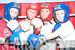 Packing a punch: Pupils of Scoil Pio Naofa in Ballybunion at the Cashen Vale Boxing Club in the town on Friday. Fionnan Toomey, Mikey Jones, Padraig Holly and David Hennessy.