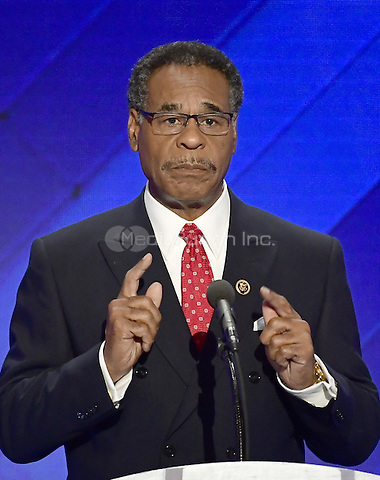 United States Representative Emanuel Cleaver (Democrat of Missouri) makes remarks during the fourth session of the 2016 Democratic National Convention at the Wells Fargo Center in Philadelphia, Pennsylvania on Thursday, July 28, 2016.<br /> Credit: Ron Sachs / CNP/MediaPunch<br /> (RESTRICTION: NO New York or New Jersey Newspapers or newspapers within a 75 mile radius of New York City)
