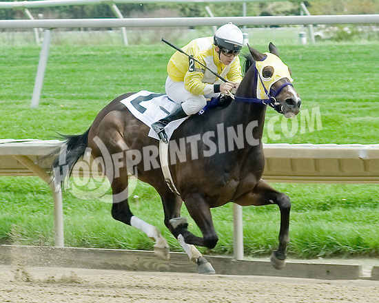 Alston Gunter winning at Delaware Park on 4/30/11