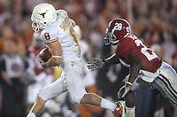 Jan 7, 2010; Pasadena, CA, USA; Texas Longhorns wide receiver Jordan Shipley (8) runs past Alabama Crimson Tide defensive back Javier Arenas (28) to score a touchdown during the third quarter of the 2010 BCS national championship game at the Rose Bowl.  Mandatory Credit: Mark J. Rebilas-