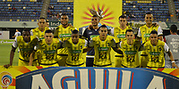 BARRANCABERMEJA - COLOMBIA, 09-09-2016: Jugadores de Alianza posan para una foto previo al partido entre Alianza Petrolera y Millonarios por la fecha 8 de la Liga Águila II 2018 disputado en el estadio Daniel Villa Zapata de la ciudad de Barrancabermeja. / Players of Alianza pose to a photo prior the match between Alianza Petrolera and Millonarios for the date 8 of the Aguila League II 2018 played at Daniel Villa Zapata stadium in Barrancabermeja city. Photo: VizzorImage / Jose Martinez / Cont