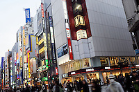 Shoppers in the Shinjuku district of downtown Tokyo, Japan. As Japan is seeing the light after over ten years recession public consumer spending is on the increase..18 Mar 2010