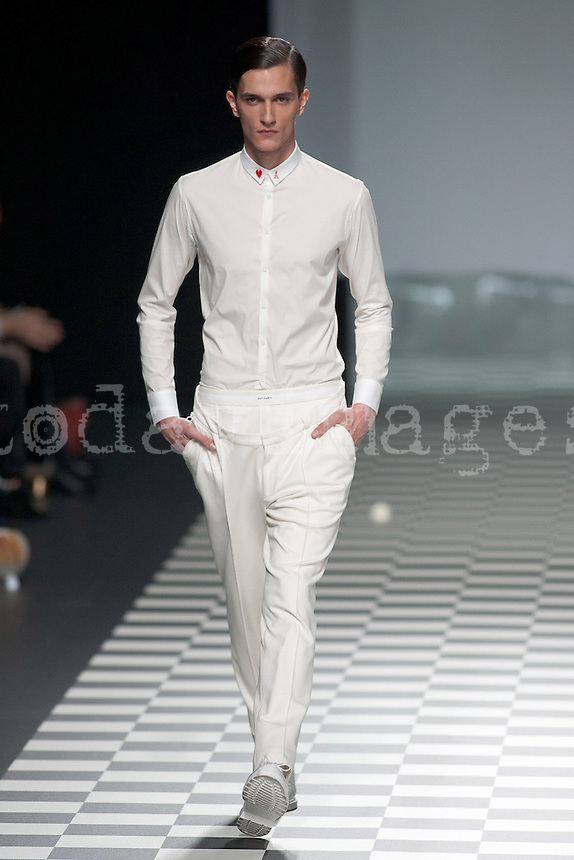 David DelfÌn at Mercedes-Benz Fashion Week Madrid 2013