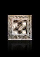 Roman mosaics -  The Bath House. The House of Oceanos, Ancient Zeugama. 3rd Century AD. Zeugma Mosaic Museum, Gaziantep, Turkey.   Against a black background.