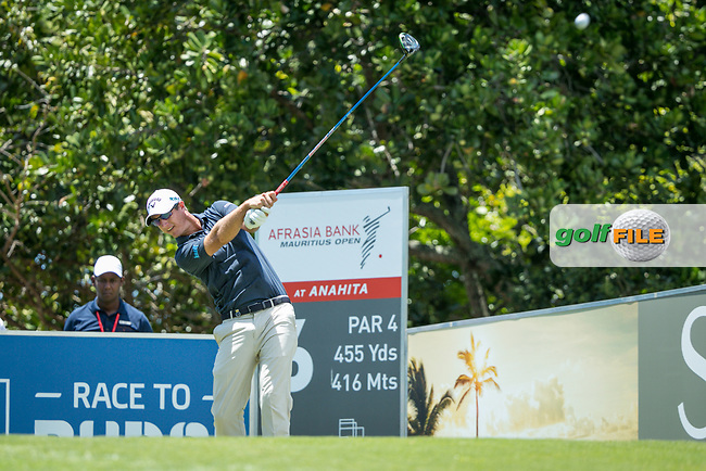 Nicolas Colsaerts (BEL) during the 2nd round of the AfrAsia Bank Mauritius Open, Four Seasons Golf Club Mauritius at Anahita, Beau Champ, Mauritius. 30/11/2018<br /> Picture: Golffile | Mark Sampson<br /> <br /> <br /> All photo usage must carry mandatory copyright credit (© Golffile | Mark Sampson)