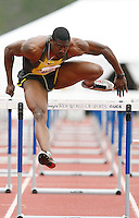 David Oliver won the 110m hurdles in a time of 13.33sec. at the 2008 Walt Disney World Invitational @ Lake Buena Vista,Fl. Photo by Errol Anderson,The Sporting Image.