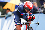 Juliette Labous of France in action during the Women's Elite Individual Time Trial of the UCI World Championships 2019 running 30.3km from Ripon to Harrogate, England. 24th September 2019.<br /> Picture: Alex Whitehead/SWPix.com | Cyclefile<br /> <br /> All photos usage must carry mandatory copyright credit (© Cyclefile | Alex Whitehead/SWPix.com)