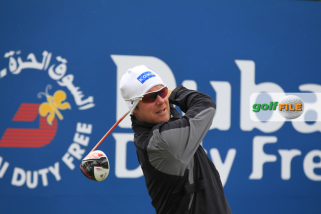 Defending Champion Mikko ILONEN (FIN) tees off the 1st tee during the Pro-Am of the 2015 Dubai Duty Free Irish Open, Royal County Down Golf Club, Newcastle Co Down, Northern Ireland. 27/05/2015 <br /> Picture Eoin Clarke, www.golffile.ie