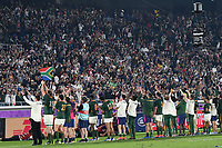1st November 2019, Yokohama, Japan;  Players of South Africa applaud the fans after the 2019 Rugby World Cup Final match between England and South Africa at the International Stadium Yokohama in Yokohama, Kanagawa, Japan on November 2, 2019.