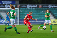 Kayleigh Green of Wales in action during the UEFA Womens Euro Qualifier match between Wales and Northern Ireland at Rodney Parade in Newport, Wales, UK. Tuesday 03, September 2019