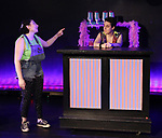 Maggie Metnick and Dani Martineck during The Dare Tactic production of 'A Roller Rink Temptation' at  WOW Cafe on May 25, 2018 in New York City.
