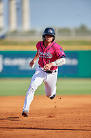 Pensacola Blue Wahoos Ben Rortvedt (1) runs the bases during a Southern League game against the Mobile BayBears on July 25, 2019 at Hank Aaron Stadium in Pensacola, Florida.  Pensacola defeated Mobile 2-1 in the first game of a doubleheader.  (Mike Janes/Four Seam Images)