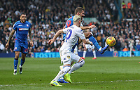 Bolton Wanderers' Gary O'Neil competing with Leeds United's EzgjanAlioski <br /> <br /> Photographer Andrew Kearns/CameraSport<br /> <br /> The EFL Sky Bet Championship - Leeds United v Bolton Wanderers - Saturday 23rd February 2019 - Elland Road - Leeds<br /> <br /> World Copyright © 2019 CameraSport. All rights reserved. 43 Linden Ave. Countesthorpe. Leicester. England. LE8 5PG - Tel: +44 (0) 116 277 4147 - admin@camerasport.com - www.camerasport.com