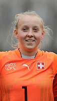20160211 - TUBIZE , BELGIUM : Switzerland's Fiona Flühler pictured during the friendly female soccer match between Women under 17 teams of  Belgium and Switzerland , in Tubize , Belgium . Thursday 11th February 2016 . PHOTO SPORTPIX.BE DIRK VUYLSTEKE