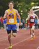 Michael Grady of East Meadow races to victory in the boys' 1,600 meter run during Day Two of the Nassau County individual championships and state qualifiers at Cold Spring Harbor High School on Friday, June 5, 2015.<br /> <br /> James Escher