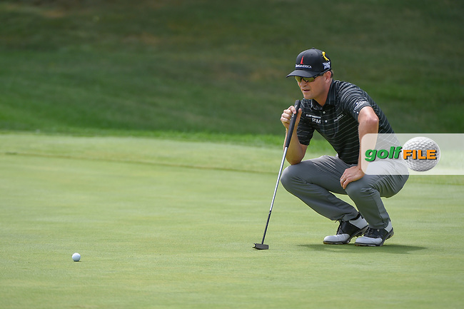 Zach Johnson (USA) lines up his putt on 16 during 1st round of the World Golf Championships - Bridgestone Invitational, at the Firestone Country Club, Akron, Ohio. 8/2/2018.<br /> Picture: Golffile | Ken Murray<br /> <br /> <br /> All photo usage must carry mandatory copyright credit (© Golffile | Ken Murray)