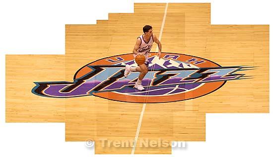 John Stockton Jazz logo. 01/18/2003<br />