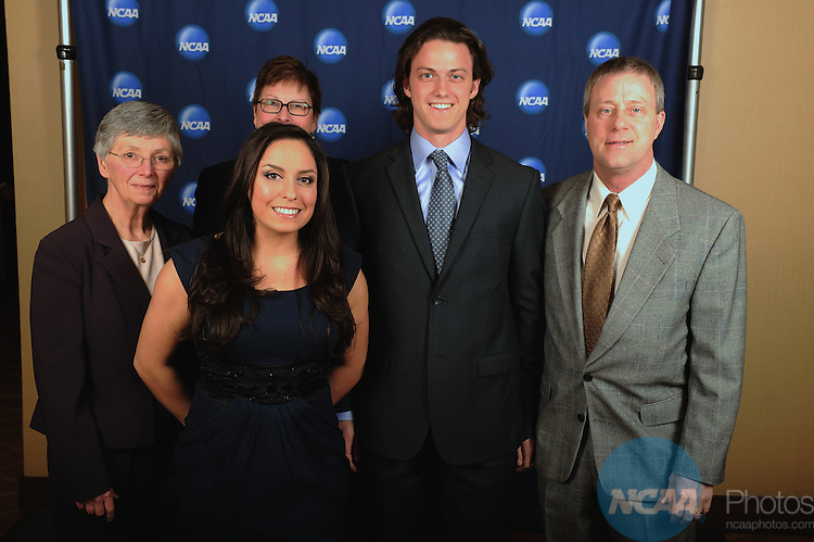 14 JAN 2011: Honorees and guests participate in the NCAA Honors Celebration at the 2011 NCAA Convention held at the Hyatt hotel in San Antonio, TX. Stephen Nowland/NCAA Photos.Pictured: Zach Carr