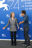 "Charlotte Rampling, Andrea Pallaoro at the ""Hannah"" photocall, 74th Venice Film Festival in Italy on 8 September 2017.<br /> <br /> Photo: Kristina Afanasyeva/Featureflash/SilverHub<br /> 0208 004 5359<br /> sales@silverhubmedia.com"