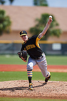 Pittsburgh Pirates pitcher Cody Dickson (13) during an instructional league intrasquad black and gold game on September 18, 2015 at Pirate City in Bradenton, Florida.  (Mike Janes/Four Seam Images)