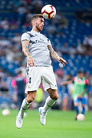 Real Madrid  Sergio Ramos during La Liga match between Real Madrid and Getafe CF at Santiago Bernabeu in Madrid, Spain. August 19, 2018.  *** Local Caption *** © pixathlon