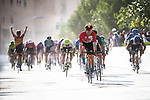 Phil Bauhaus (GER) Bahrain-Mclaren wins Stage 5 of the Saudi Tour 2020 running 144km from Princess Nourah University to Al Masmak, Saudi Arabia. 8th February 2020. <br /> Picture: ASO/Pauline Ballet   Cyclefile<br /> All photos usage must carry mandatory copyright credit (© Cyclefile   ASO/Pauline Ballet)