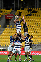 Auckland&rsquo;s Fa&rsquo;atiga Lemalu in action during the Mitre 10 Cup - Wellington v Auckland at Westpac Stadium, Wellington, New Zealand on Thursday 4 October 2018. <br /> Photo by Masanori Udagawa. <br /> www.photowellington.photoshelter.com