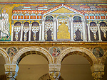 Mosaic, Basilica di Sant'Apollinare Nuevo, 6th century Byzantine mosaics, Ravenna, Italy