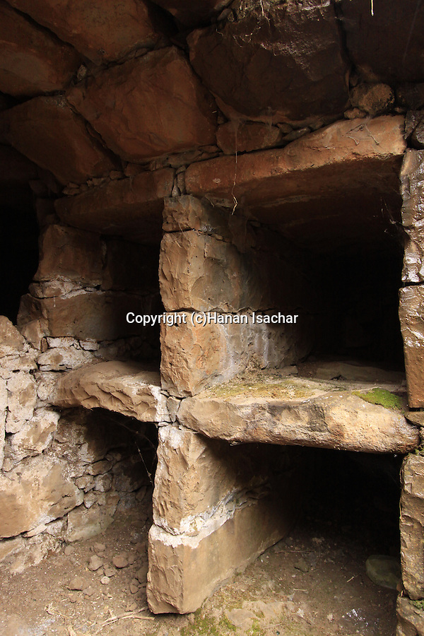 Golan Heights, ancient burial cave near Marom Golan