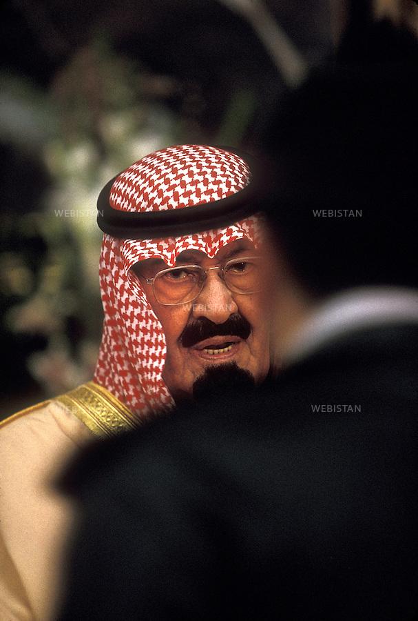 2003. Saudi Arabia. Portrait of Prince Abdallah. Arabie Saoudite. Portrait du Prince Abdallah.
