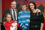 Mayor Paul Bell with Denise McGuirk and her baby Jake Tuohy, daughter Teegan Tuohy and son Adam Tuohy at the Open Day for Boyne Garda Youth Project...Picture Jenny Matthews/Newsfile.ie