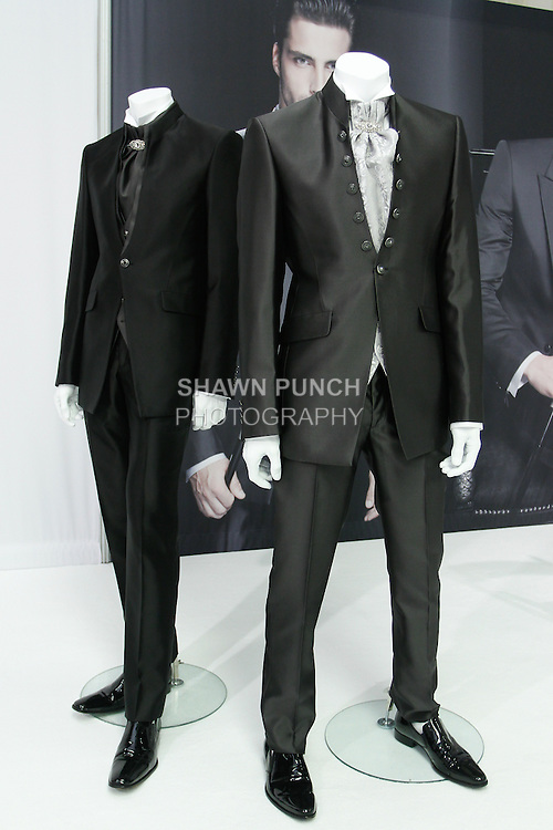Menswear from the Carlo Pignatelli Ceremony Collection 2014, presented during Couture Bridal Fashion Week, on October 12, 2013.