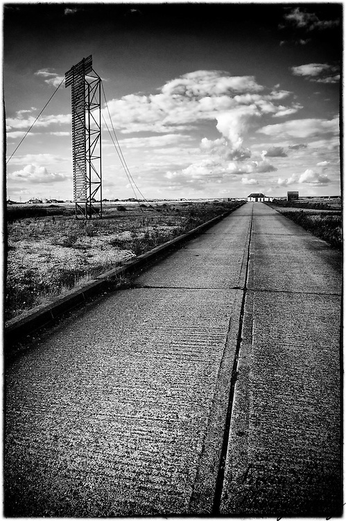 Concrete road to Dungeness house