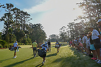 Martin Kaymer (GER), Si Woo Kim (KOR), and Adam Scott (AUS) head down 10 during round 1 of The Players Championship, TPC Sawgrass, at Ponte Vedra, Florida, USA. 5/10/2018.<br /> Picture: Golffile | Ken Murray<br /> <br /> <br /> All photo usage must carry mandatory copyright credit (&copy; Golffile | Ken Murray)