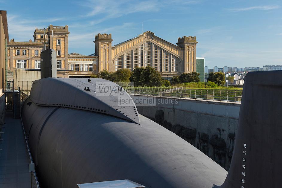 France, Manche (50), Cotentin, Cherbourg, Cité de la Mer, le plus grand sous-marin nucléaire visitable au monde: Le Redoutable //: France, Manche, Cotentin, Cherbourg, museum Cite de la Mer (city of the sea), old nuclear submarine Le Redoutable