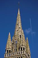 Europe/France/Bretagne/29/Finistère/Le Folgoêt: La basilique Notre-Dame détail du clocher,