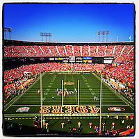 SAN FRANCISCO - NOVEMBER 10:  Instagram of the interior of the stadium during the game between the Carolina Panthers and San Francisco 49ers at Candlestick Park on November 10, 2013 in San Francisco, California. Photo by Brad Mangin
