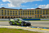Porsche GT3 Cup Series<br /> Sebring February Test<br /> Sebring International Raceway, Sebring, Florida, USA<br /> Wednesday 21 February 2018<br /> #1 Kelly-Moss Road and Race, Porsche 991 / 2017, GT3P: Roman De Angelis<br /> World Copyright: Richard Dole<br /> LAT Images