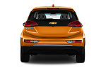 Straight rear view of 2018 Chevrolet Bolt-EV LT 5 Door Hatchback Rear View  stock images