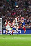Atletico de Madrid's Diego Godin and Rayo Vallecano's Adrian Embarba during La Liga match. August 25, 2018. (ALTERPHOTOS/A. Perez Meca)