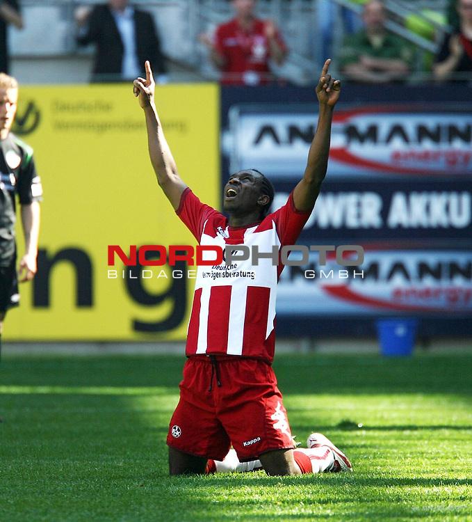 2. FBL 2006/2007 29. Spieltag Rueckrunde<br /> 1. FC Kaiserslautern vs Greuther Fuerth<br /> <br /> FCK-Torschuetze Emeka Opara<br /> <br /> Foto &copy; nph (  nordphoto  )