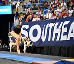 The SEC National Gymnastic Championship was held on Saturday March 24 at Chaifetz Arena on the Saint Louis University campus. Mizzou&rsquo;s Morgan Porter in the vault competition.<br />